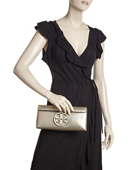 Tory Burch - Miller Metallic Leather Clutch