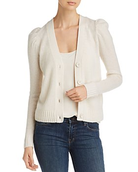 C by Bloomingdale's - Puff-Sleeve Cashmere Cardigan - 100% Exclusive