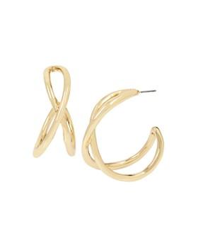 Robert Lee Morris Soho - Sculptural Twist Hoop Earrings