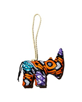 TO THE MARKET - Kitenge Rhino Ornament