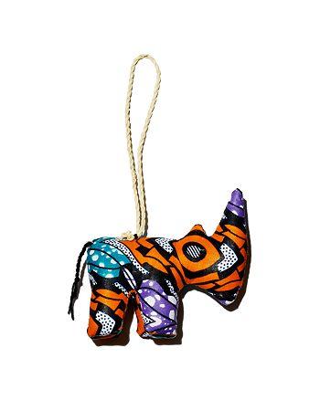 TO THE MARKET - Kitenge Rhino Ornament