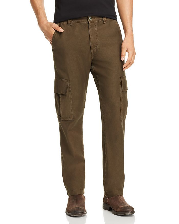 AG - Slim Fit Cargo Pants in Dark Algae - 100% Exclusive