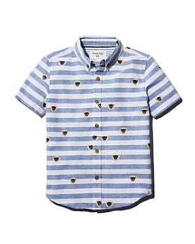Sovereign Code - Boys' Striped Lion Camp Shirt - Little Kid, Big Kid