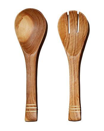 TO THE MARKET - Hand-Carved Olive Serving Set