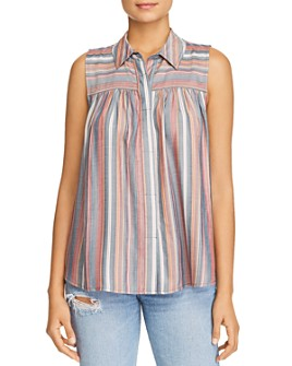 Cupio - Striped Button-Down Top
