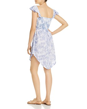 Tiare Hawaii - Hollie Smocked Tie-Dyed Mini Dress