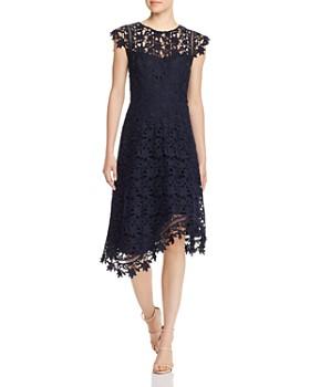 Eliza J - Cap Sleeve Lace Midi Dress