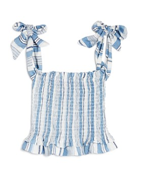 Vintage Havana - Girls' Striped Smocked Top & Shorts - Big Kid