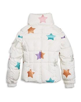 SAM. - Girls' Sparkly-Star Freestyle Jacket, Little Kid - 100% Exclusive