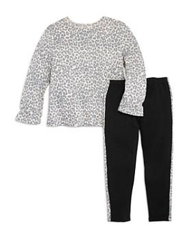 Splendid - Girls' Leopard-Printed Top & Side-Stripe Leggings, Little Kid - 100% Exclusive