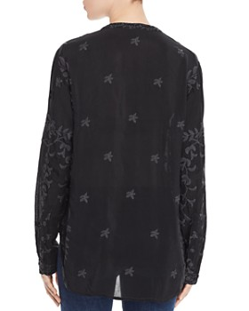 Johnny Was - Sasha Embroidered Tie-Front Blouse