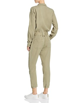 PAM & GELA - Zip-Front Belted Utility Jumpsuit