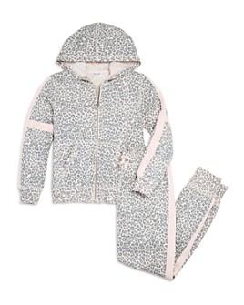 Splendid - Girls' Leopard Hoodie & Jogger Pants, Big Kid - 100% Exclusive