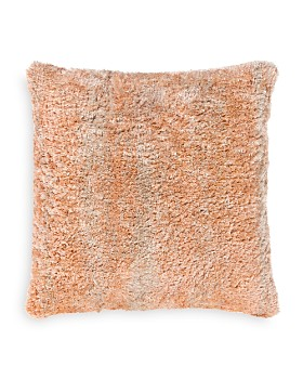 "Surya - Flokati Shag Throw Pillow, 21"" x 21"""