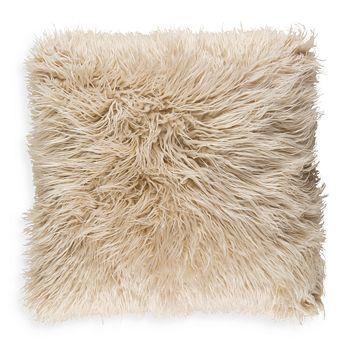 "Surya - Faux Fur Throw Pillow, 20"" x 20"""