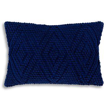 """Surya - Merdo Navy Textured Lumbar Throw Pillow, 22"""" x 14"""""""