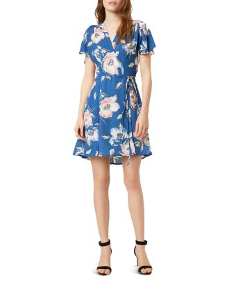 Cari Floral Mini Wrap Dress by French Connection