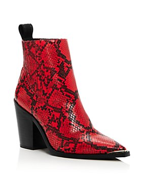 Kenneth Cole - Women's West Side Snake-Print Booties - 100% Exclusive