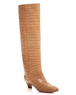 Miista Women's Katerina Croc-Embossed Tall Boots