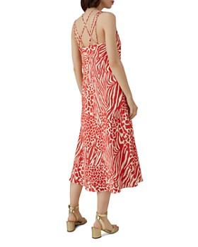 KAREN MILLEN - Strappy Animal-Print Midi Dress