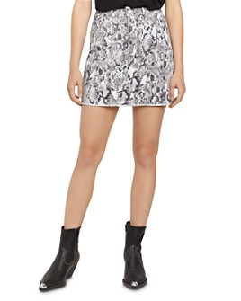 Sanctuary - Ryan Snakeskin-Print Denim Mini Skirt