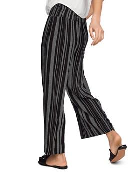1.STATE - Smocked-Waist Striped Pants