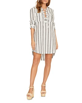 Sanctuary - Staycation Lace-Up Shift Dress