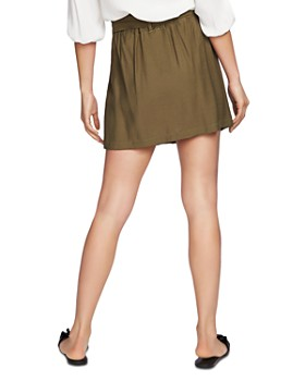 1.STATE - Paperbag-Waist Button-Front Skirt