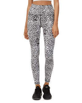 All Fenix - Track-Stripe Leopard Print Leggings