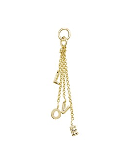 AQUA - Love Drop Charm in 18K Gold-Plated Sterling Silver or Sterling Silver - 100% Exclusive