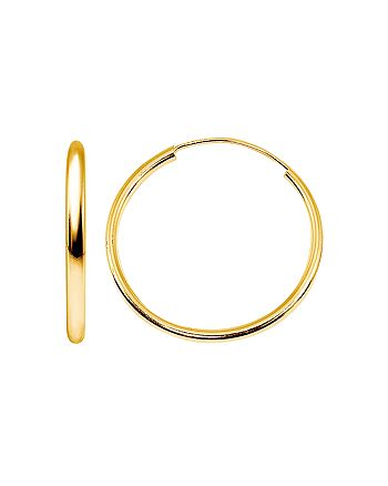 AQUA - Small Hoop Earrings in 18K Gold-Plated Sterling Silver or Sterling Silver - 100% Exclusive