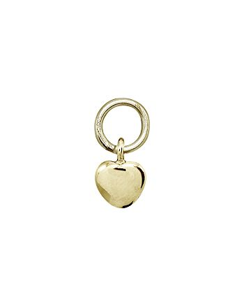 AQUA - Heart Charm in Sterling Silver or 18K Gold-Plated Sterling Silver - 100% Exclusive