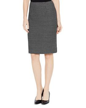 Misook - Grid-Patterned Pencil Skirt