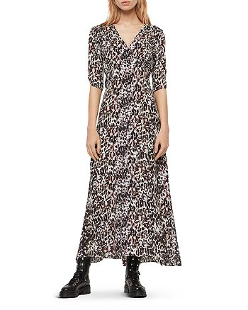 ALLSAINTS - Kota Leofall Leopard Print Maxi Dress - 100% Exclusive