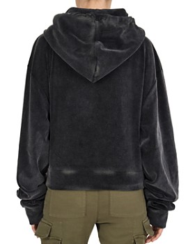 The Kooples - Faded Velvet Hoodie