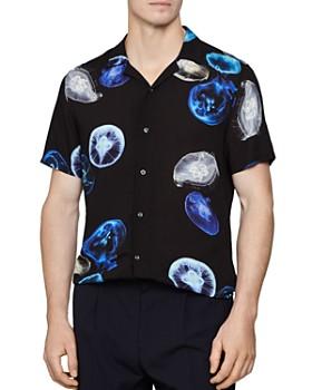 REISS - Gleam Cuban Jellyfish Regular Fit Shirt