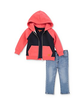 7 For All Mankind - Boys' Zip Hoodie, Tee & Jeans Set - Baby