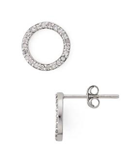 Bloomingdale's - Diamond Open Circle Stud Earrings in Sterling Silver - 100% Exclusive