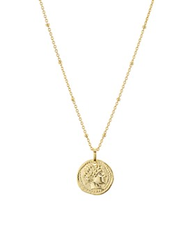 "AQUA - Angel Medallion Pendant Necklace in Gold-Plated Sterling Silver, 16"" - 100% Exclusive"