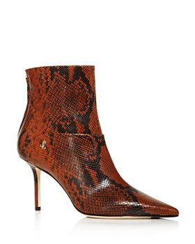 Jimmy Choo - Women's Beyla Snake-Print High-Heel Booties