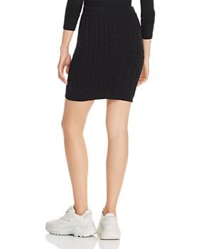 alexanderwang.t - Shrunken Cable-Knit Mini Skirt