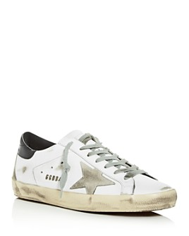 Golden Goose Deluxe Brand - Unisex Superstar Distressed Leather Low-Top Sneakers