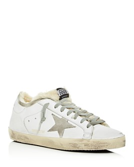 Golden Goose Deluxe Brand - Unisex Superstar Leather & Shearling Low-Top Sneakers