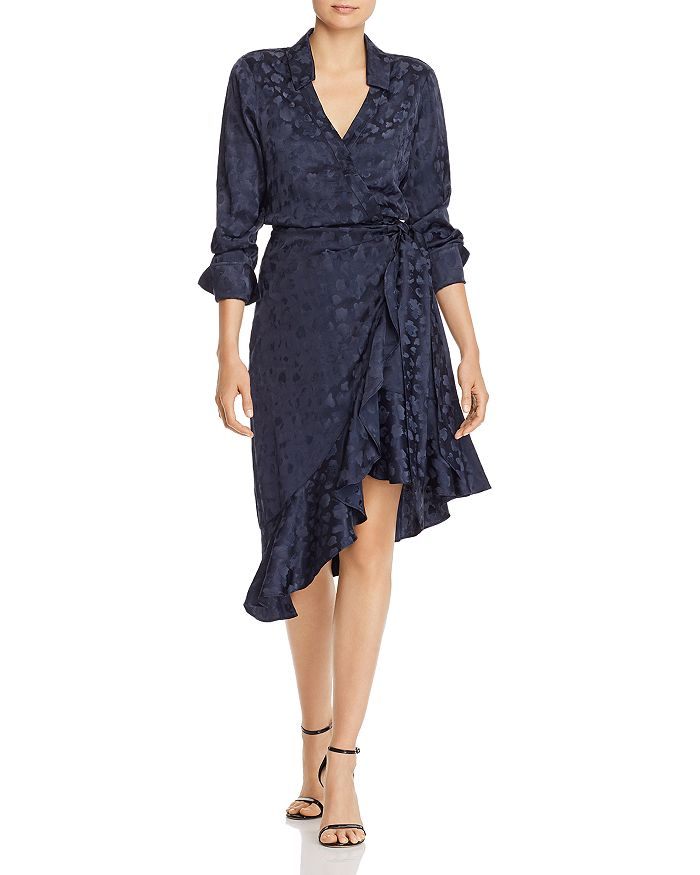Parker - Marin Floral-Jacquard Wrap Dress