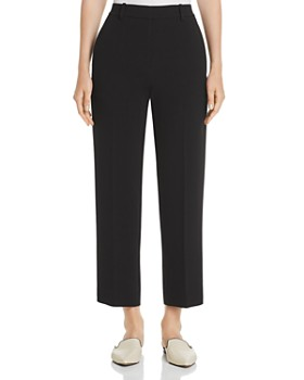 Theory - High-Rise Crepe Cropped Pants