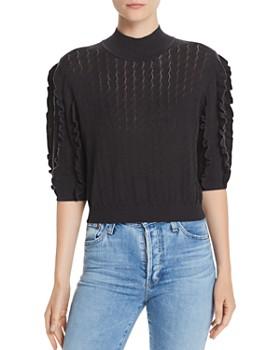 Joie - Halton Pointelle Ruffle-Trim Sweater