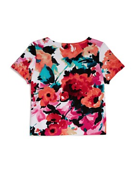 AQUA - Girls' Floral Short-Sleeve Top, Big Kid - 100% Exclusive