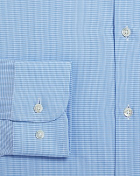 Armani - Micro Houndstooth Regular Fit Dress Shirt