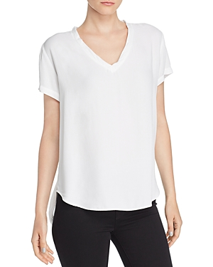 V-Neck High/Low Tee