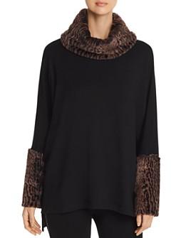 Capote - Capote Faux-Fur-Trimmed Cowl-Neck Sweater